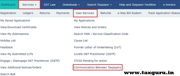 Communication between Recipient and Supplier Taxpayers Image 19