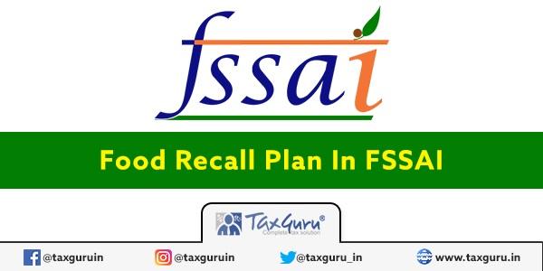 Food Recall Plan In FSSAI