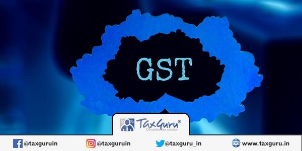 GST blue background