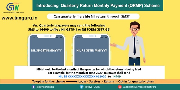 Quarterly filers file Nil return through SMS