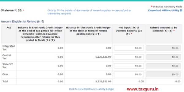 """Serial Number, Invoices of tax paid and click the """"Validate & Calculate"""" button"""