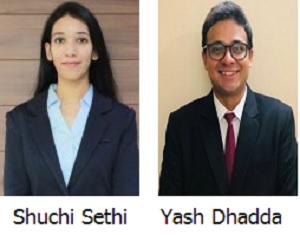 Shuchi Sethi and Yash Dhadda