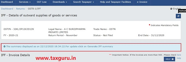 Furnishing Documents in Invoice Furnishing Facility (IFF) under QRMP Scheme Image 29