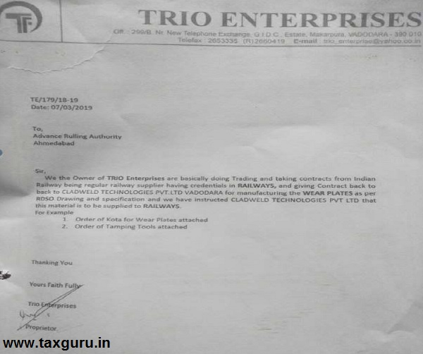 Scan Image of the letter