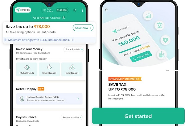 ETMONEY App - Save Tax Up to Rs. 78000