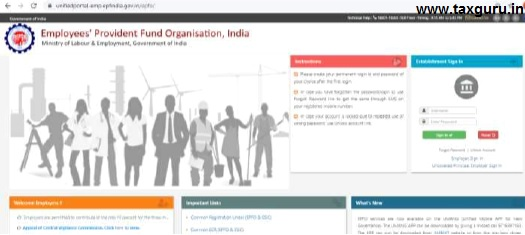 Employer Interface of Unified Portal
