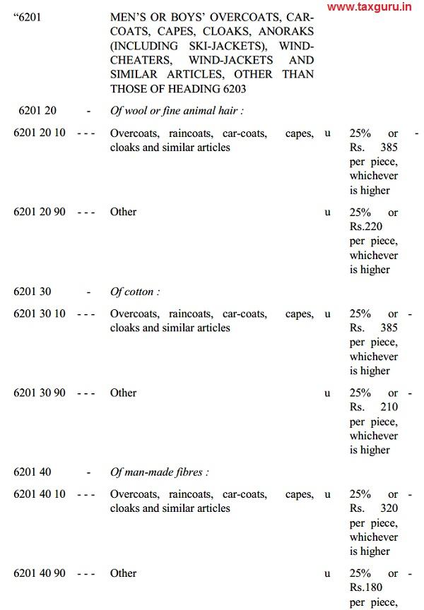 Finance Bill Table No. 11