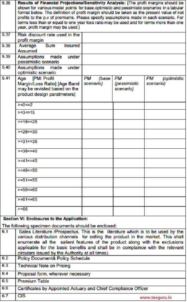 Form IRDAI-UNF-PASP 4