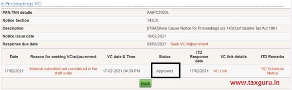 Seek VC & Seek VC adjournment Image 5