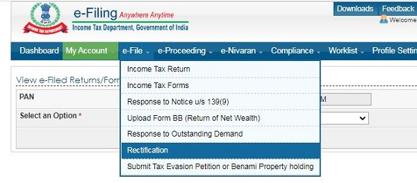 image2 Filing of Rectification request under section 154 of Income Tax Act