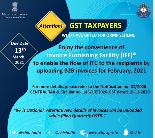 GST Taxpayers who have opted for QRMP Scheme