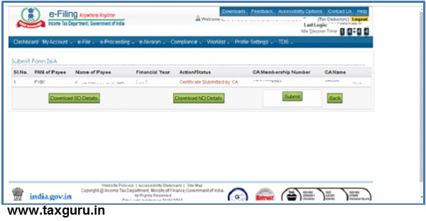 Procedure at e-filing portal of Deductor –2