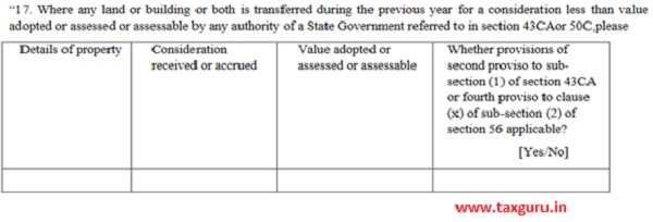 Clause 17 Part B of Form 3CD 2