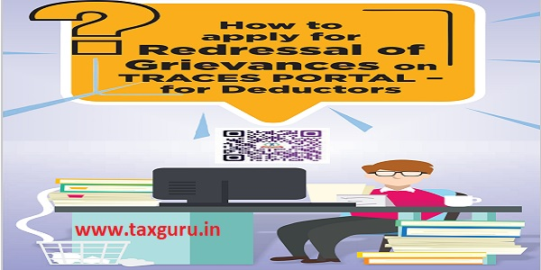 How to apply for Redressal of Grievances on TRACES PORTAL - for Deductors
