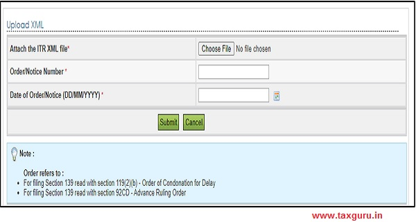 ITR Form and under filing