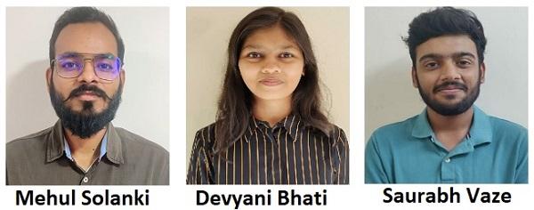 Mehul Solanki, Devyani Bhati and Saurabh Vaze