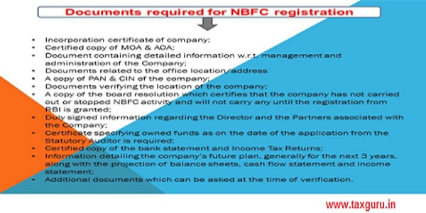 Registration of NBFC- License