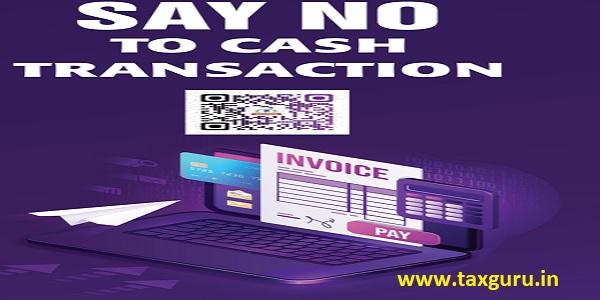Say No Cash to Transaction