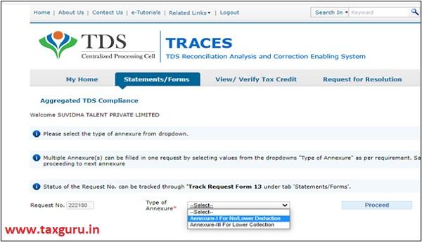TRACES portal Image 6