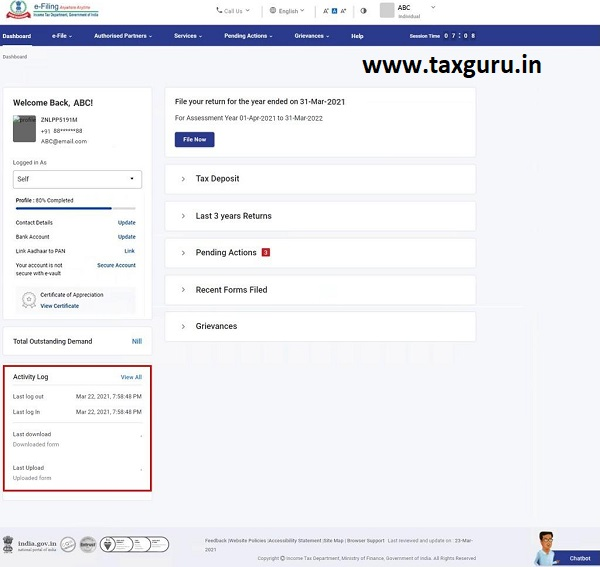 Dashboard and Worklist (Taxpayer) User Manual 12