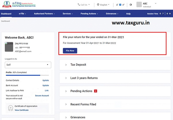 Dashboard and Worklist (Taxpayer) User Manual 13