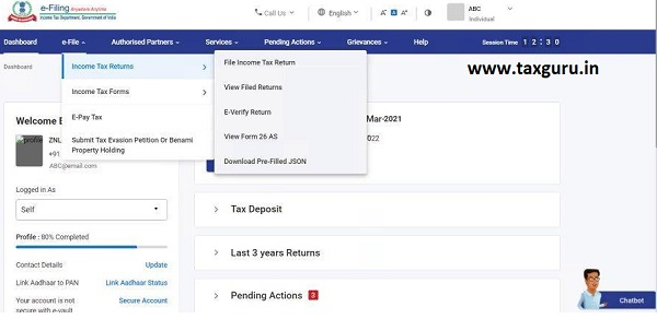 Dashboard and Worklist (Taxpayer) User Manual 21