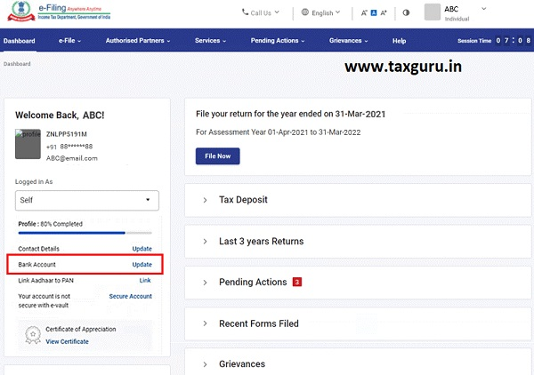 Dashboard and Worklist (Taxpayer) User Manual 6