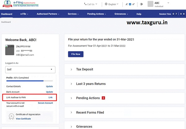 Dashboard and Worklist (Taxpayer) User Manual 7