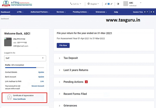 Dashboard and Worklist (Taxpayer) User Manual 9