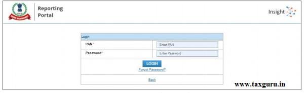 Figure 10 Enter PAN and Password