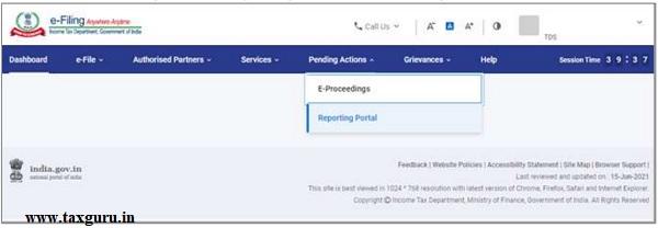 Figure 3 Reporting Portal Link
