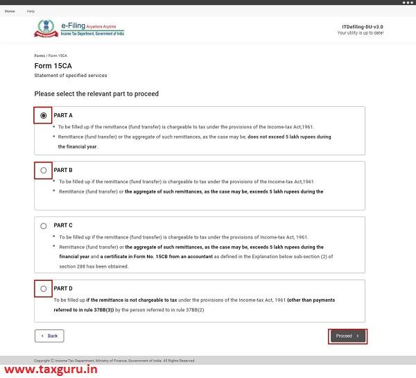 Form 15cA