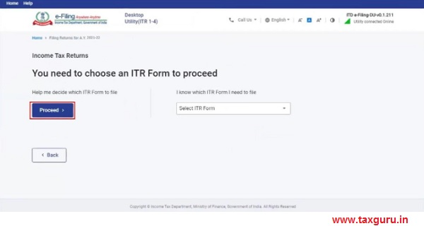 Help me decide which ITR Form to file