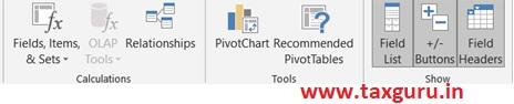 Inserting a Pivot Chart