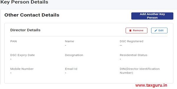 Key Person Details