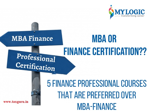 MBA or Finance Certification