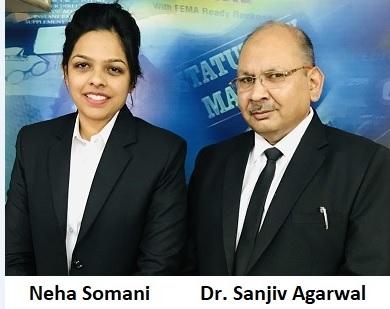 Neha Somani and Dr. Sanjiv Agarwal