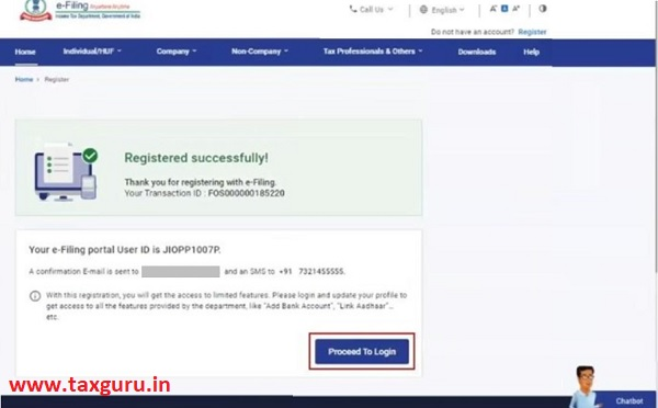 Register for e-Filing (Tax Deductor and Collector) Image 10