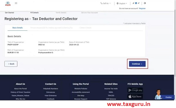 Register for e-Filing (Tax Deductor and Collector) Image 4
