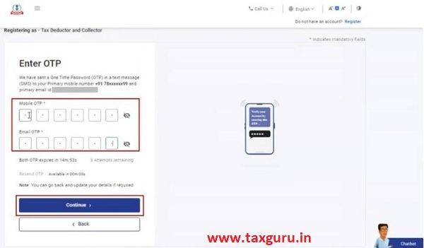 Register for e-Filing (Tax Deductor and Collector) Image 7