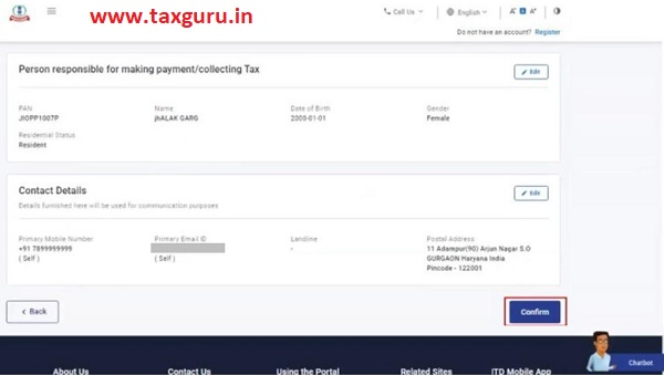 Register for e-Filing (Tax Deductor and Collector) Image 8