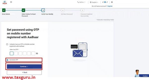 Set Password using OTP