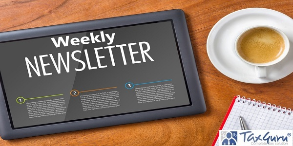 Tablet on a desk - Weekly  Newsletter
