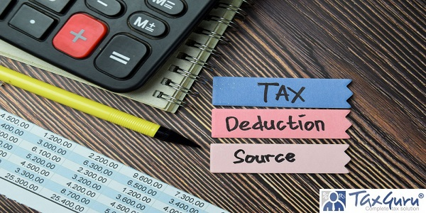 Tax Deduction Source write on sticky notes isolated on office desk