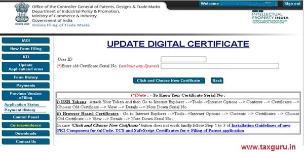 Update Digital Certificate