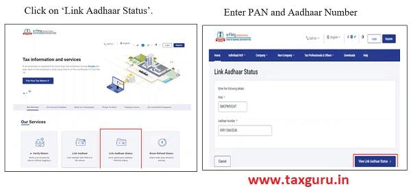 View Aadhaar link Status
