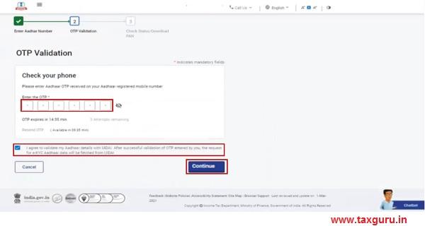 mobile number registered with Aadhaar