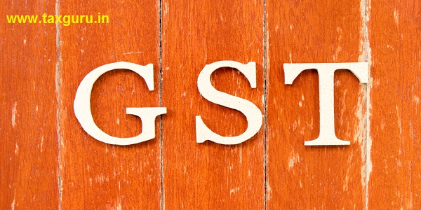 Alphabet letter in word GST (Abbreviation of Goods and Service Tax) on old red color wood plate background
