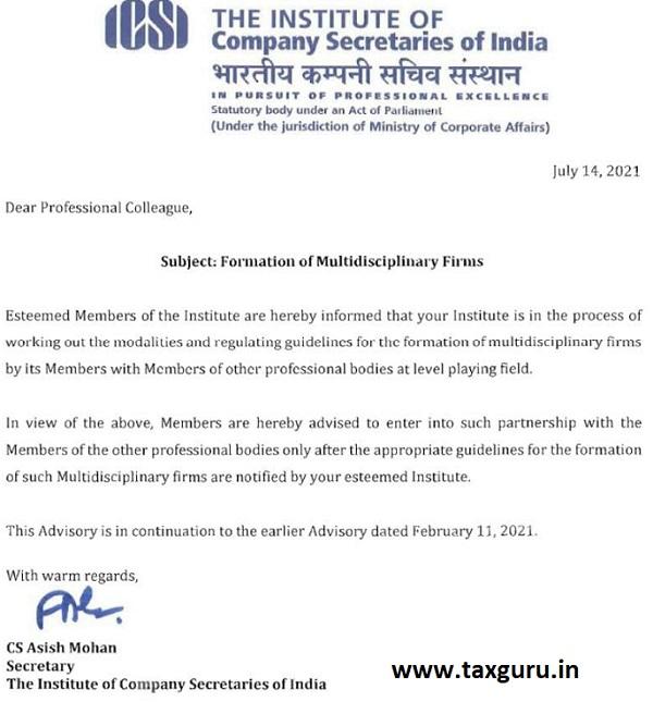 Formation of Multidisciplinary Firms