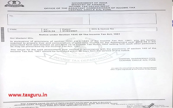 Returns us 153–C r w s 153–A could not be filed